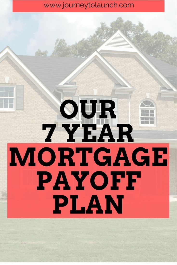 our 7 year mortgage payoff plan