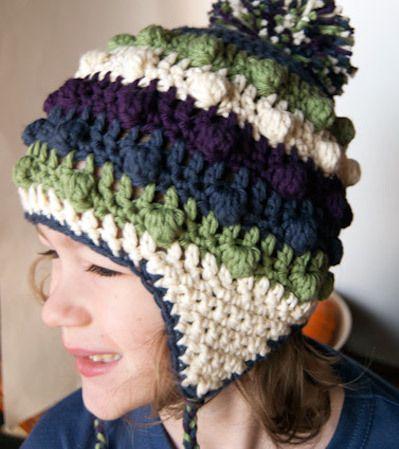 Ear Flap Crochet Hat Gorros Pinterest Crochet Mittens And