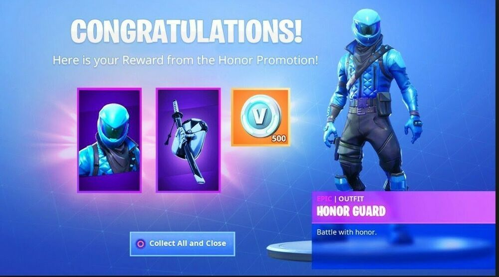 Fortnite Honor Guard Skin Code PC PS4 XBOX (TRUSTED SELLER