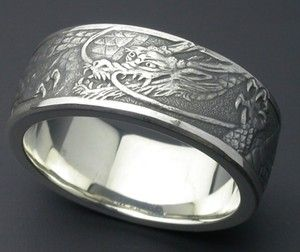 Japanese Style Mens Wedding Bands