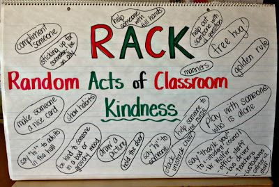 RACK Week....what a great idea! Set aside one week for random acts of kindness!
