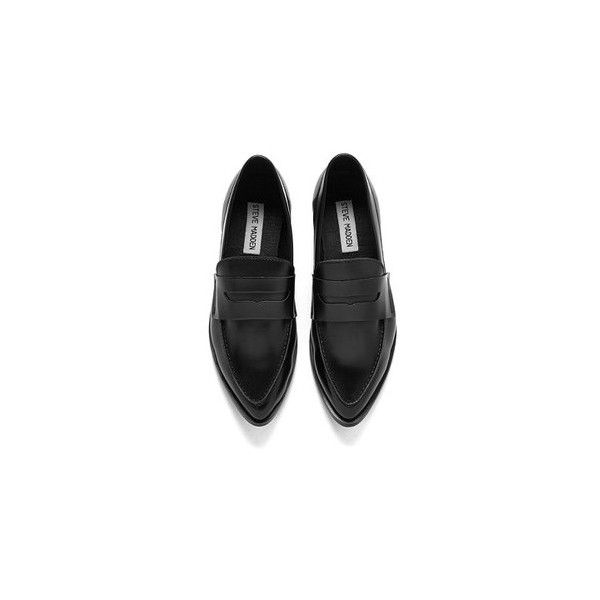 1f8d7c88d7c Steve Madden Women's Lindie Pointed Leather Penny Loafers - Black ...