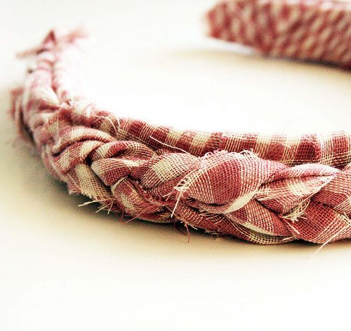 headband made from fabric scraps