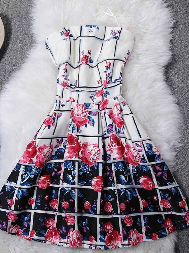 Rose Print Dress from Mlovedresses.com