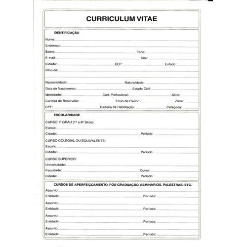 Curriculum Vitae Em Branco Para Priencher  Pesquisa Google  Cv
