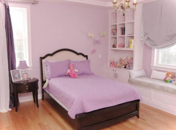 Bedroom In Purple Tones Cute For Girls Interior Home