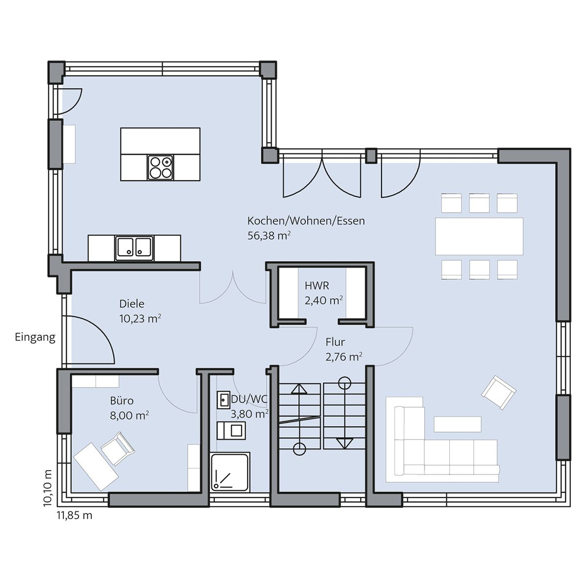 Haus Klose – Erdgeschoss | Grundriss Ideen Haus | Pinterest ...
