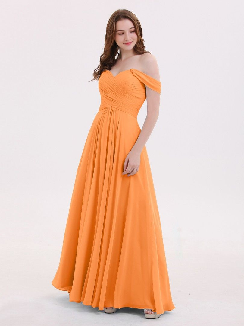 f453b527644 Babaroni Lindsay Off the Shoulder Empire Bridesmaid Dresses
