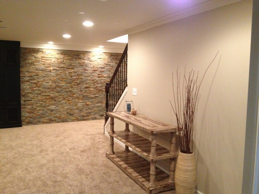 Adding A Stone Accent Wall To Remodel Basement Quick And
