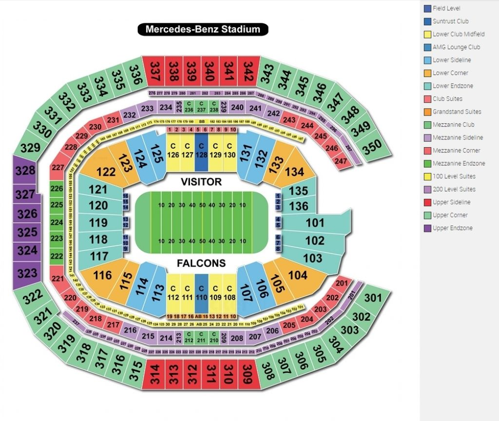 Mercedes Benz Stadium Seating Guide Front Row Seats in