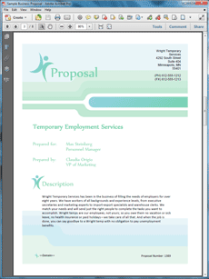 The Temp Agency Services Sample Proposal Is One Of Many Sample Business  Proposals Included With Proposal Pack Proposal Templates And Proposal  Software ...  Proposal Of Services Template