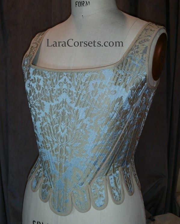 18th century damask stay (corset) by LaraCorsets