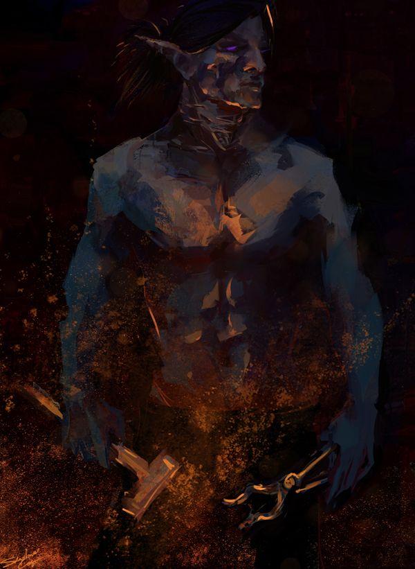Dark elf commission, Everquest 2  | Dark Elves | Dark elf