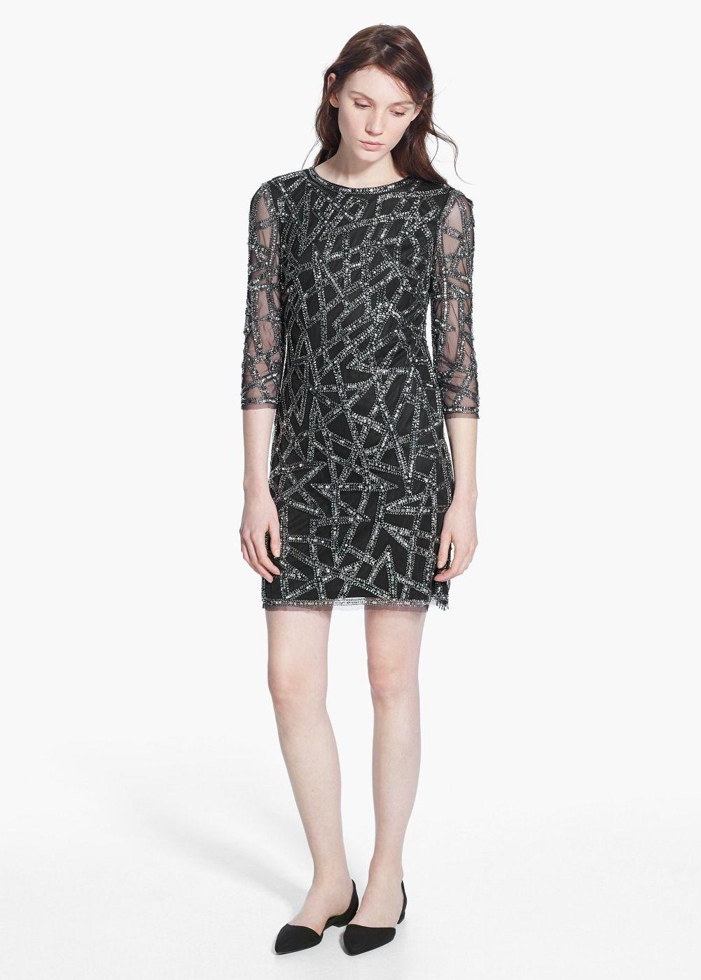 d72f053423d47 Embroidery bead dress - Woman   Mekot   Pinterest   Robe brodé, Robe ...