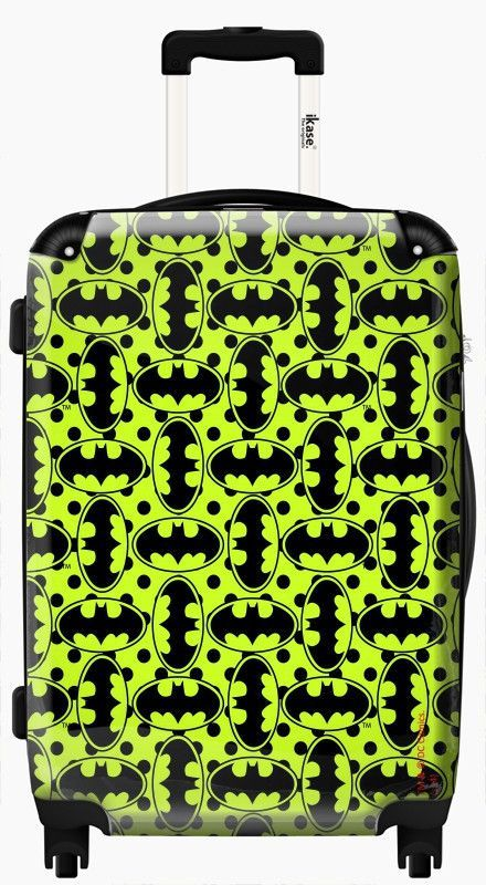 Suitcase Batman Logo comic yellow