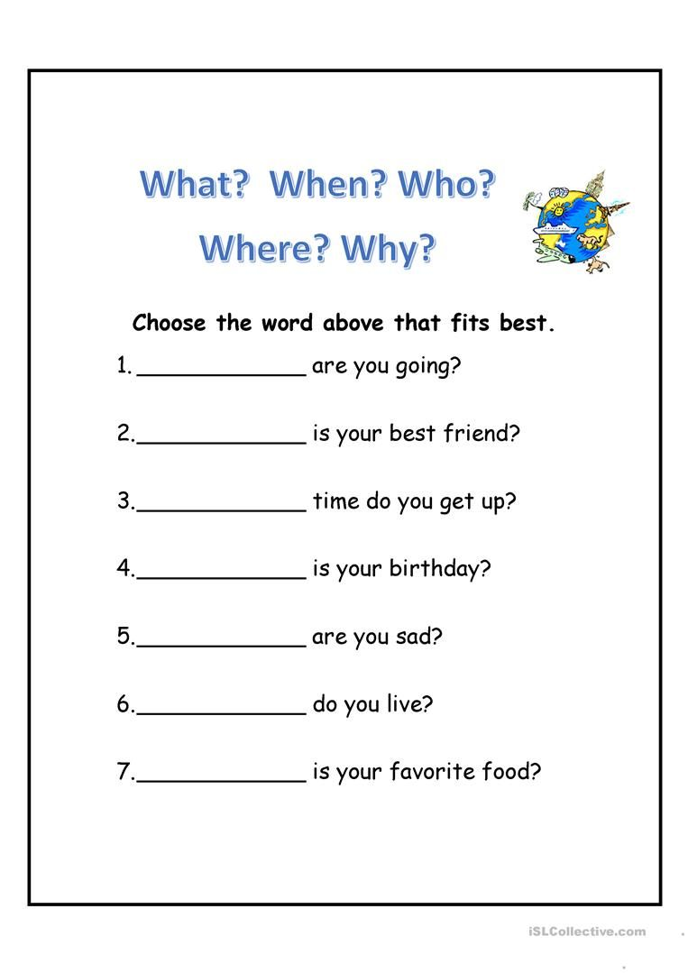 small resolution of WH Questions   Wh questions worksheets