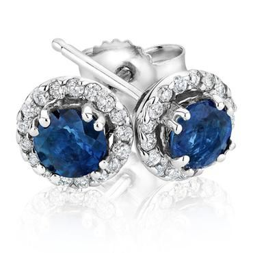 Sapphire and Diamond Earrings 1/8ctw - Item 19446566 | REEDS Jewelers