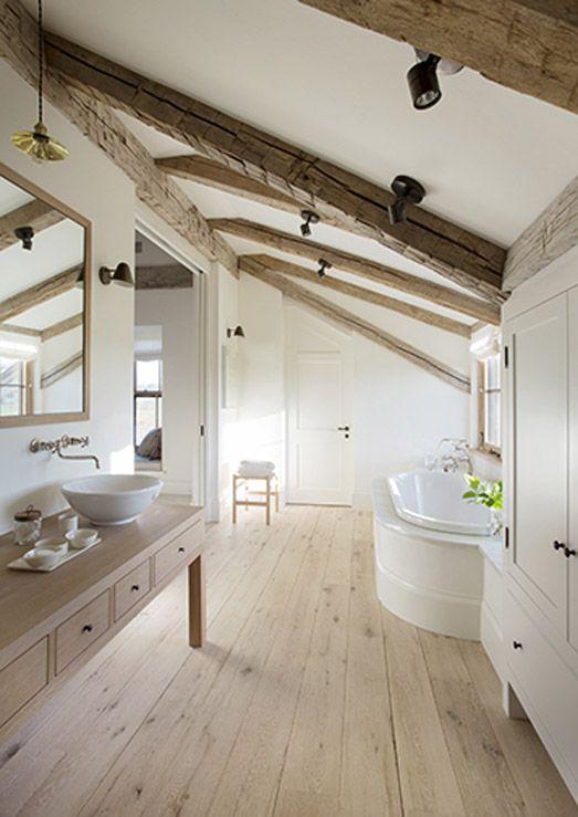 Es lebe das Fachwerk! #bathroom #badezimmer #fachwerk #holzbalken - badezimmer landhaus
