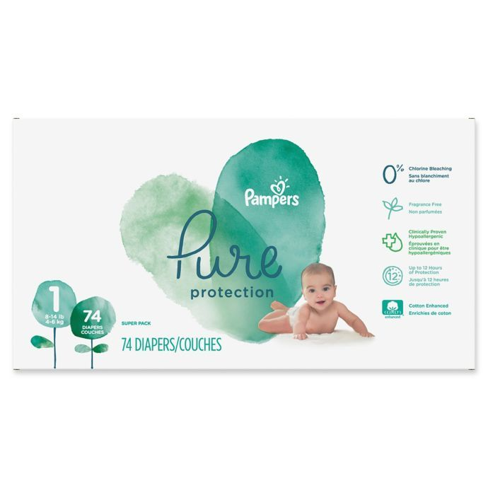 c96903f7dd62f Pampers® Pure Protection 74-Count Size 1 Disposable Diapers | buybuy BABY