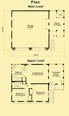 Plans For a Two Bedroom Apartment Above a Two Car Garage | Garage ...