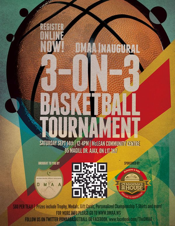 basketball tournament flyer spread the word let s see who can put