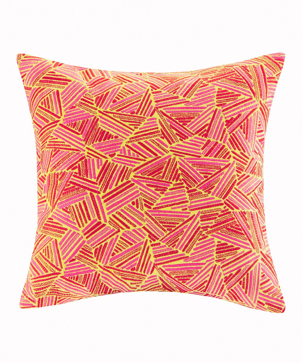 Pink & Gold Decoiserie Square pillow