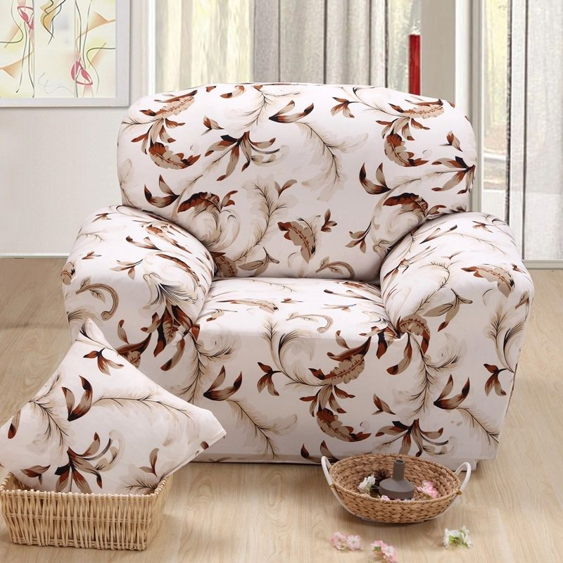 Spandex Stretch Polyester Sofa Cover Elastic Pastoral capa de sofa fabric cover funda sofa Slipcover 1-4Seats red/grey plaid/dot