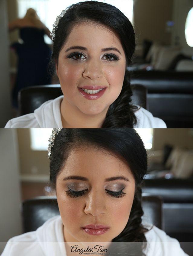 Orange County Celebrity Wedding Latina Hispanic Bridal Makeup Artist And Hair Stylist Bride Maria