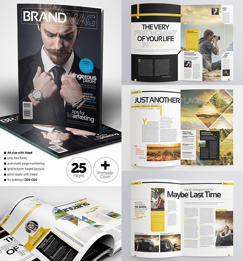 Multipurpose Magazine Template INDD | EDITORIAL IDEAS | Pinterest ...