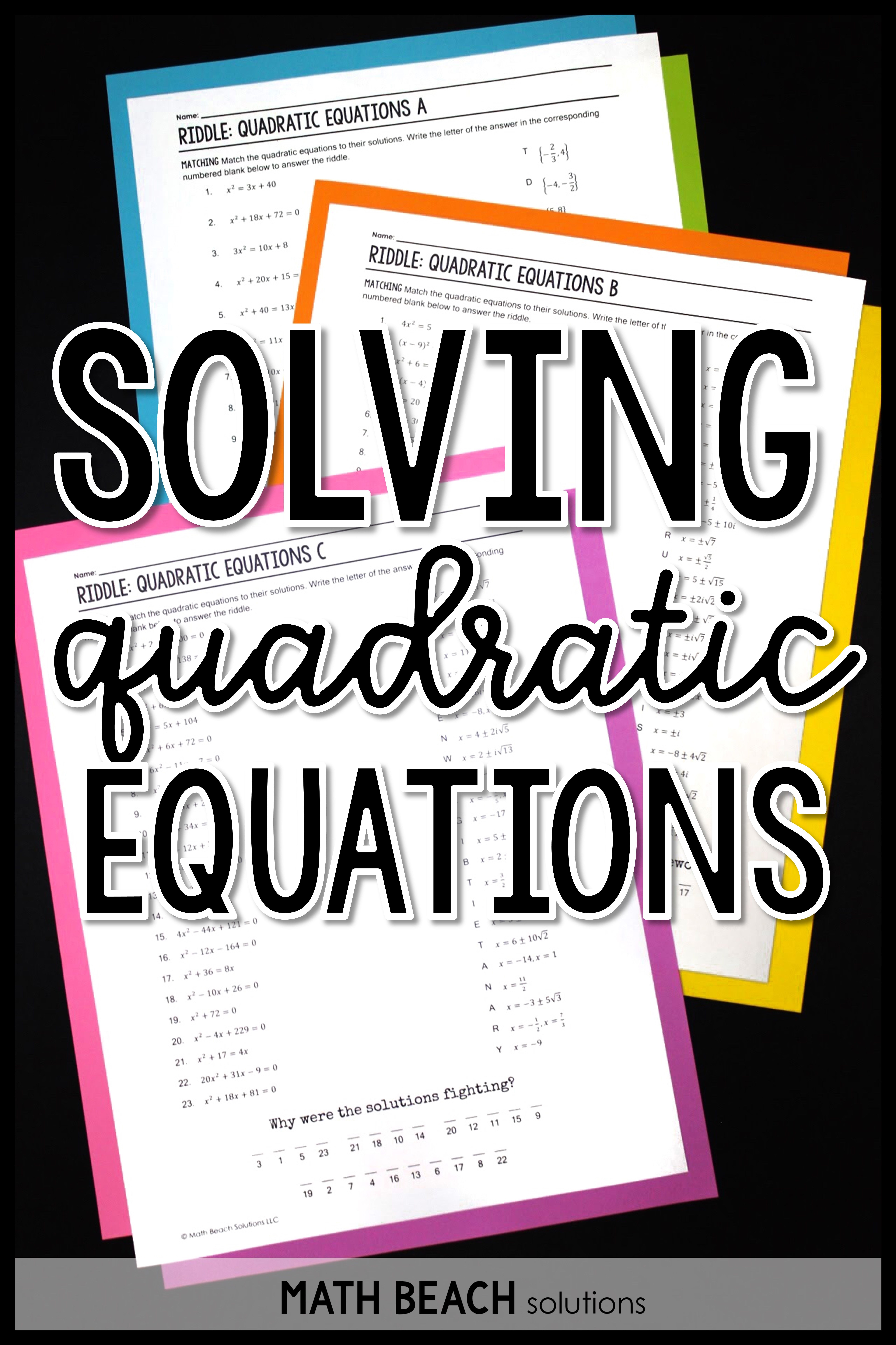 Pin On Quadratic Functions Equations And Inequalities