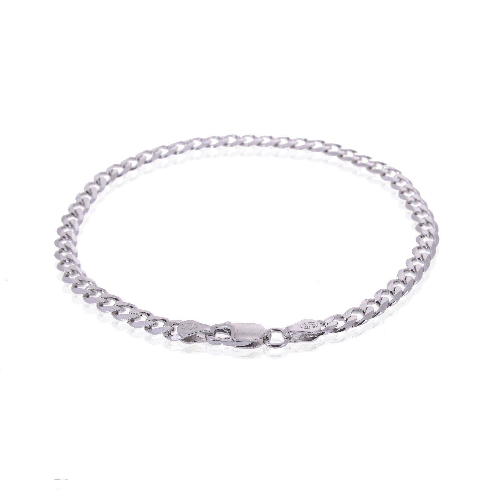 bc2f3ac63e1 Men's Sterling Silver Gourmette Chain Type Bracelet #silver  #antoniomarsocci #jewellery #italiandesign #