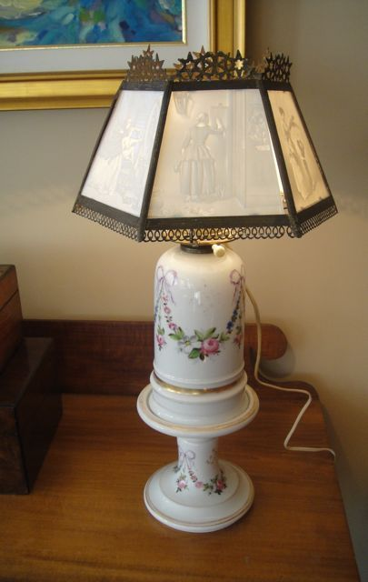 Antique German Oil Lamp With Lithophane Shade Oil Lamps Lamp Antiques