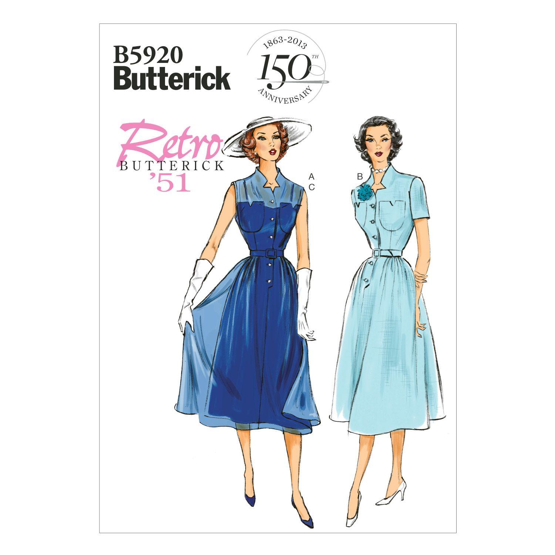 Mccall Pattern B5920 14 - 16 - 18 - 2 - Butterick Pattern | Dress ...