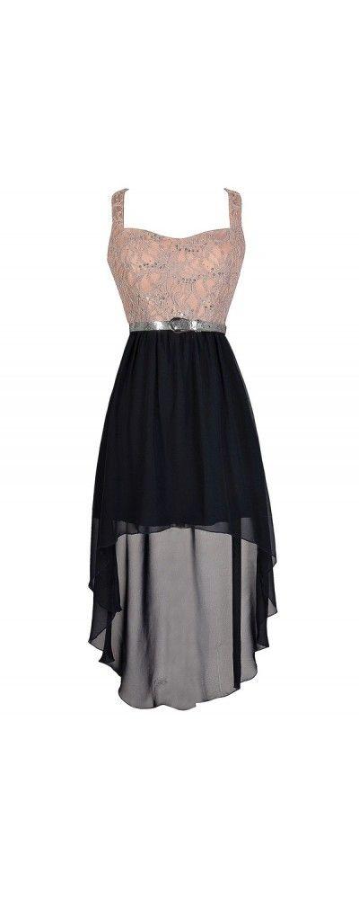 Ren Faire Maiden Metallic Embroidered High Low Dress in Mocha www ...