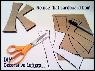 At Home With Becky J Diy Decorative Letters Large Decorative Letters Decorative Letters Cardboard Letters