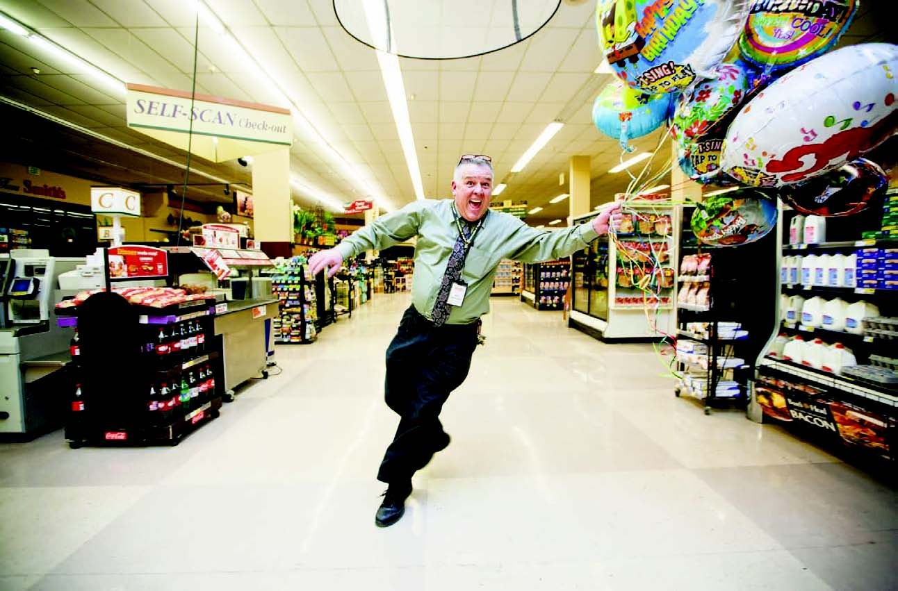 Jeff Motsinger, head customer service manager, Sunday night (Feb. 16) at Smith's Food & Drug.