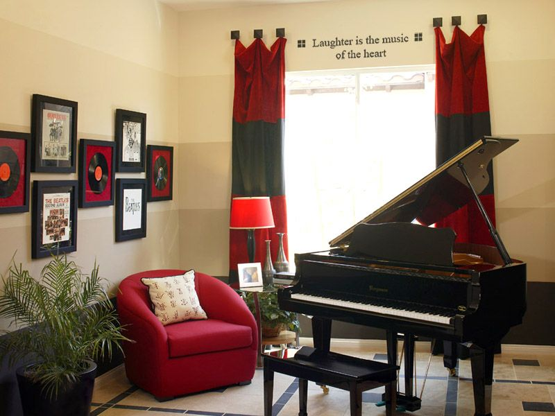 Music Themed Room Decorating Ideas Part - 19: A Music Room Idea