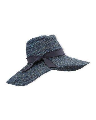 3567bf6e Kathleen Straw Floppy Hat Blue | My Style | Hats, Blue, Sun hats