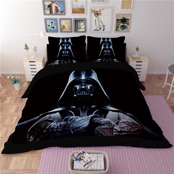 Beautiful Star Wars Style Bedding Set Print Duvet Cover Twin Full Queen King Good Quality