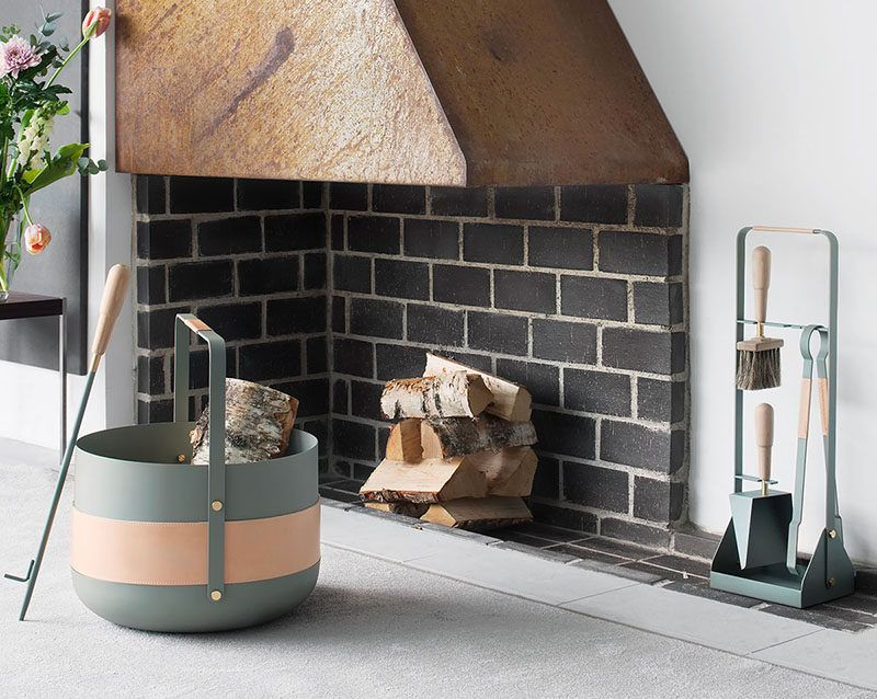 These New Contemporary Scandinavian Fireplace Accessories Are Designed With Beauty Simpli Wood Basket Fireplace Accessories Contemporary Fireplace Accessories