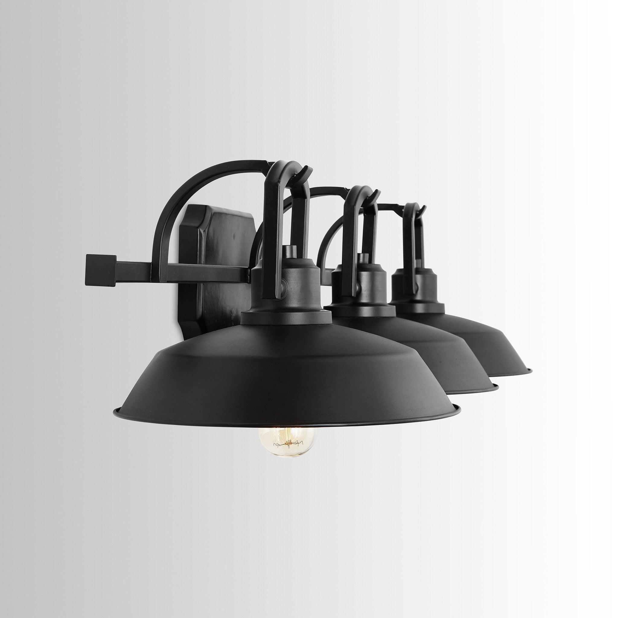 Carbon Loft Jennie 3light Matte Black Vanity Fixture (As