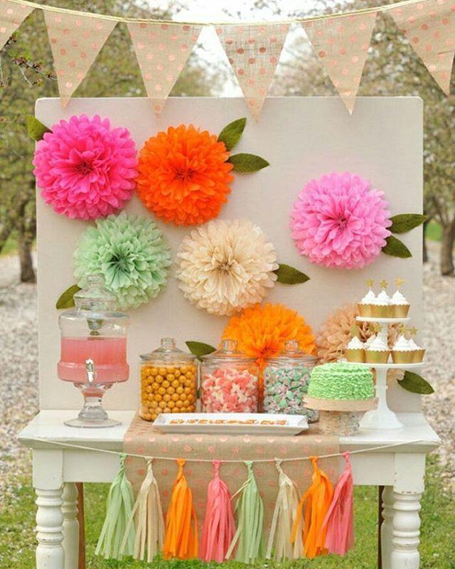 Inspirao vidro flores cupcakes bandeirolas e tassel pinterest diy tissue paper flowers project nursery by brucee mightylinksfo Images
