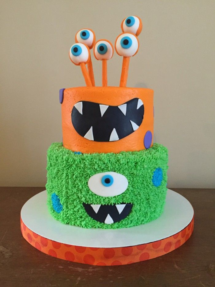 Kids birthday cake monster Birthday Cake Pinterest Birthday