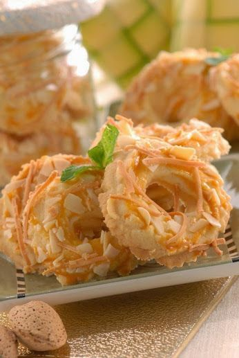 Pin Oleh Linawati Di Kue Kering Keju Almond Cookie Recipes
