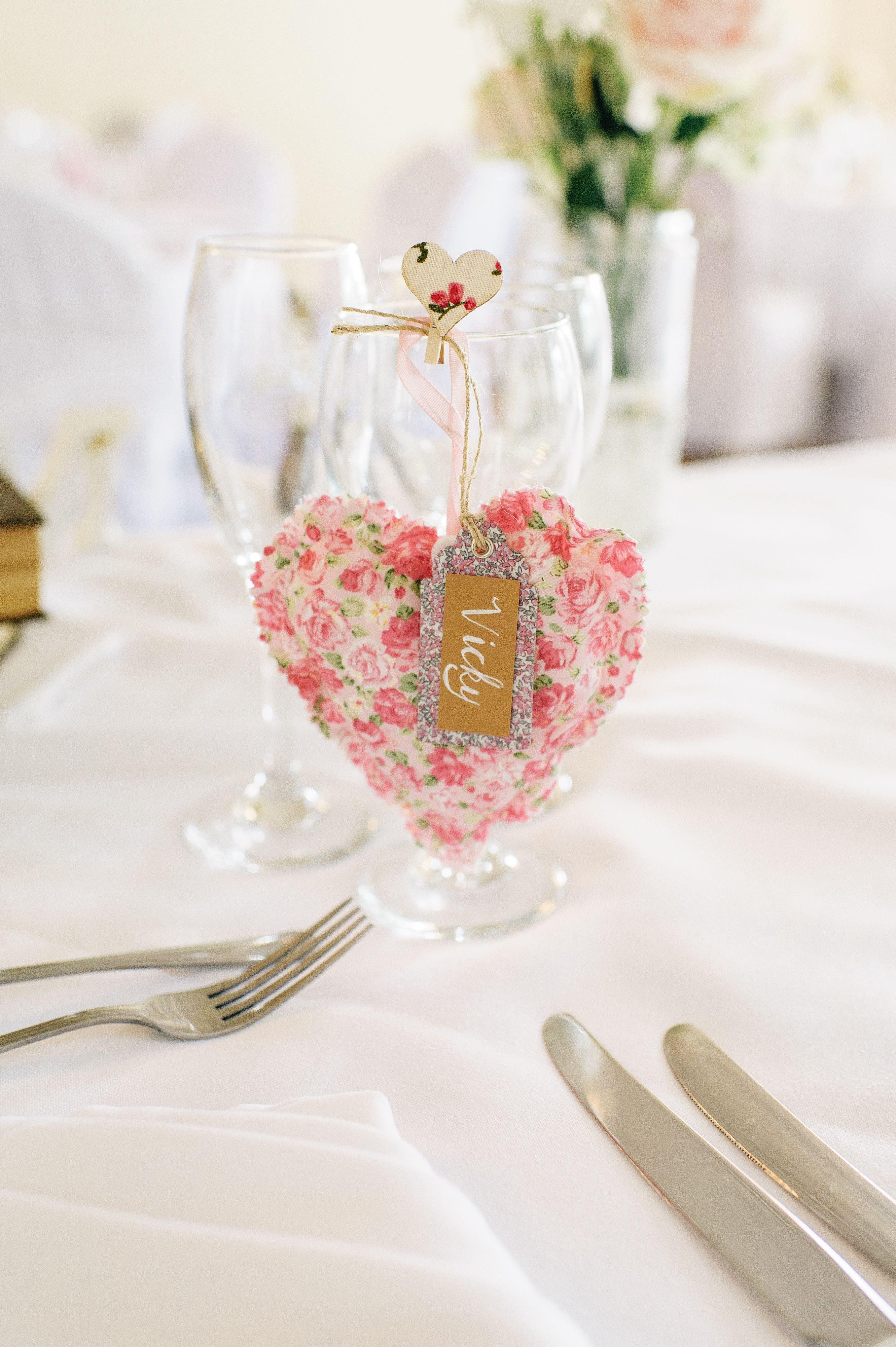 Handmade hanging heart wedding favour from Lauradana Day ...