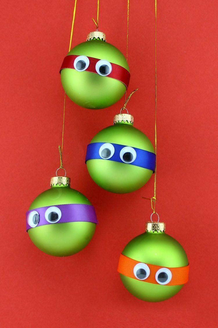 Die ninja turtles als tannenbaumschmuck oder mitgebsel weihnachten pinterest weihnachten - Tannenbaumschmuck basteln mit kindern ...