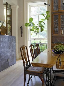 Chalkboard Wall In The Dining Room Of Brooklyn Historic Townhouse By Kathryn Scott Design Studio