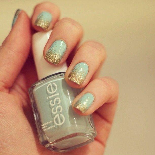 uñas menta, mint nails www.PiensaenChic.com | Chic Uñas | Pinterest