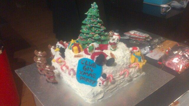Magnificent Christmas Themed December Birthday Cake December Birthday Cake Funny Birthday Cards Online Hendilapandamsfinfo