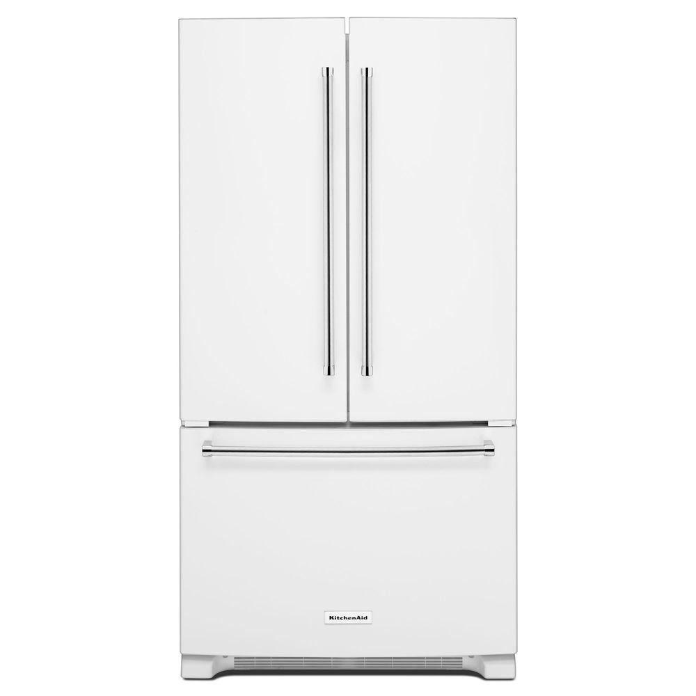 Kitchenaid 20 cu ft french door refrigerator in white